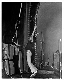 Ron Asheton at the Grande Ballroom, 1970.