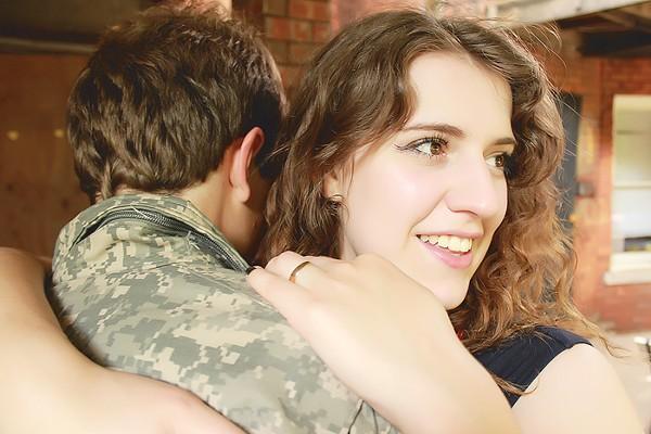 Ron (Logan Hart) and Sara (Amelia Gillis) get domestic. - PHOTO BY BRANDY JOE PLAMBECK