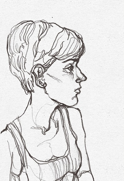 Self portrait of the artist. - MEREDITH MIOTKE