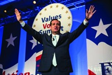 Sen. Ted Cruz (R-TX) — purveyor of masturbation material for Tea Party jihadists — handily won a presidential straw poll at the 2013 Values Voter Summit in - Washington, D.C. held on Oct. 11-13.