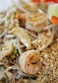 Shrimp and chicken pad thai from Pi's Thai Cuisine. - MT PHOTO: ROB WIDDIS