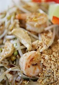 Shrimp and chicken pad thai from Pi's Thai Cuisine. - MT PHOTO: ROB WIDDIS