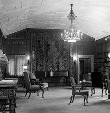 CRANBROOK ARCHIVES - Steinway Piano in Cranbrook House Library, 1957