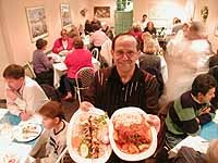 Steve's Back Room: Proprietor / chef Steve Kalil serves chicken kabob and lamb shank - METRO TIMES PHOTO / LARRY KAPLAN
