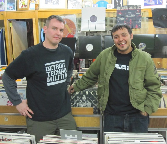 T. Linder (left) and DJ Seoul of Detroit Techno Militia. - MT PHOTO: WALTER WASACZ