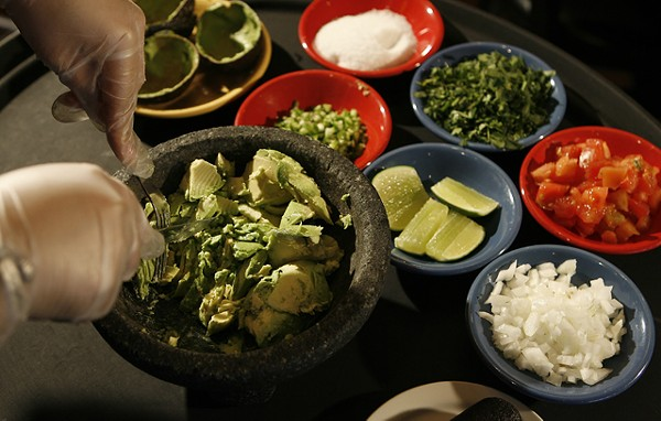Tableside guacamole from Miguel's Cantina in Rochester Hills. - MT PHOTO: ROB WIDDIS