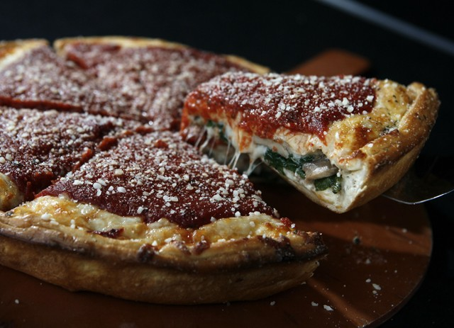 """The """"Spinach Special"""" from Michigo Pizza in Ferndale. - MT PHOTO: ROB WIDDIS"""