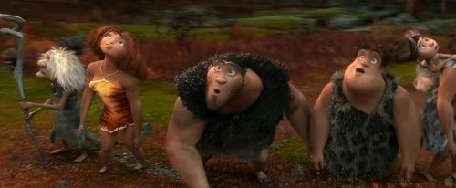 The Croods: A not-so-modern Stone Age family.
