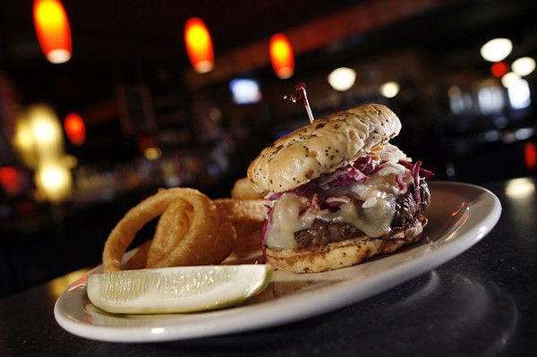 The Dinty Moore burger from Northern Lights Lounge in Detroit.