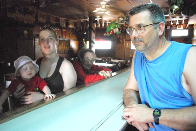 The Dyer family inside their bar. - PHOTO: DETROITBLOGGER JOHN