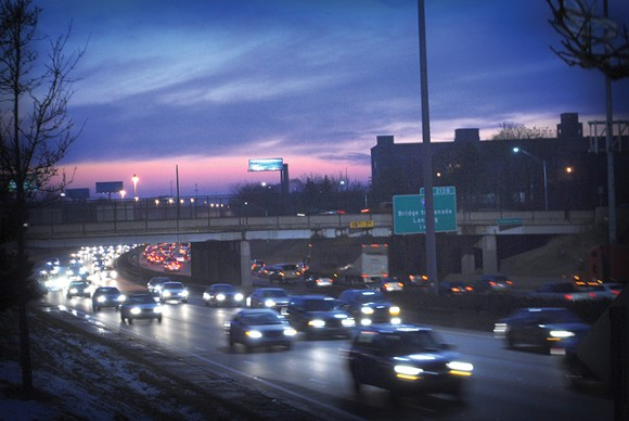 The Michigan Department of Transportation's proposed widening of I-94 would include the removal of pedestrian overpasses between Midtown and New Center, such as the Trumbull Ave. bridge seen here. - RYAN FELTON/METRO TIMES