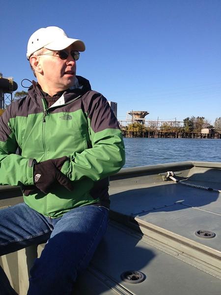 The Sierra Club's Brad van Guilder show us problems near DTE's River Rouge Power Plant