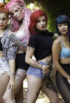 The Suicide Girls are bringing the Blackheart Burlesque tour to St. Andrew's Hall, Detroit, on Sunday, December 1. In the coming weeks, we have an interview with co-founder Missy Suicide for you, plus some slideshows offering a taste of what's in-store. Here's the first.