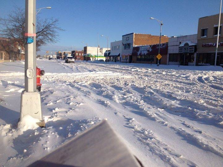 Scene from Hamtramck following the Feb. 1-2, 2015 snowstorm. - MT