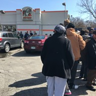 Little Caesars pizza giveaway a slam dunk for free lunch-seekers in metro Detroit