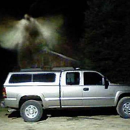Michigan minister believes he has captured image of angel over his truck