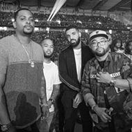 Drake was spotted at the Beyonce and Jay-Z show in Detroit