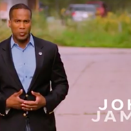 Michigan GOP Senate ad features a swastika for some reason