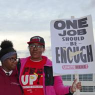Airline food workers at Detroit Metro Airport are taking strike vote as peak travel arrives