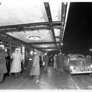 Detroit's Music Hall currently restoring canopy to original Art Deco splendor