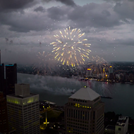 WATCH: Drone footage of the Detroit fireworks