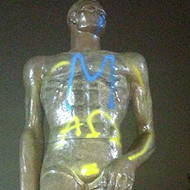 MSU's Sparty has been vandalized