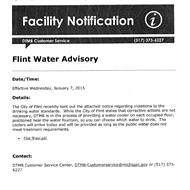 Snyder admin trucked clean water into Flint state buildings in Jan 2015
