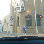 Nothing to see here, just a Power Ranger in Hamtramck