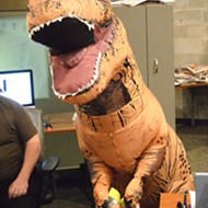 Here's what happened when a T-rex came to our offices