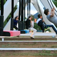 Musical swings let you be a kid again in Cadillac Square