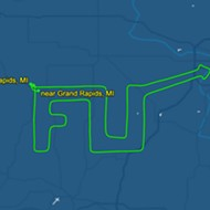 Michigan man spells 'F U' with plane in response to Whitmer's coronavirus lockdown