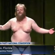 That guy who did a strip-tease at Libertarian Party Convention? Yeah, he's from Michigan.