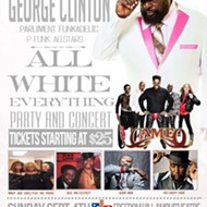 Tickets now on sale for All White Everything concert and party featuring George Clinton and Parliament Funkadelic