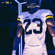 U-M football team 'up to something', debuts Jumpman jerseys