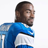 Calvin Johnson is trading in the football field for the ballroom