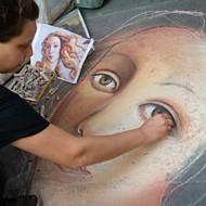 The children's chalk art challenge is on