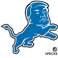 This Lions logo with Trump's face on it will haunt your dreams forever