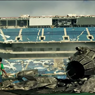 The Silverdome is featured in the new Transformers movie trailer