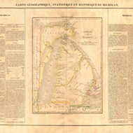 This historical map of Michigan shows what it looked like before statehood