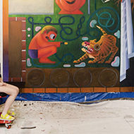 Natalie Wadlington's 'Pooled' explores fragility and crisis through bold and whimsical paintings