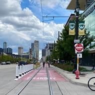 QLine, buses get dedicated lane in front of Detroit's Little Caesars Arena