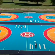Grant Hill and Fila unveil two new basketball courts in Detroit