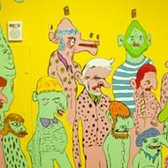 Check out Jimbo Easter's weird and amazing new Bon Bon Bon mural