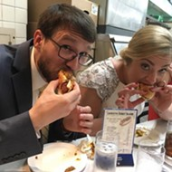 This couple celebrated their wedding with a trip to Lafayette Coney Island and we love it
