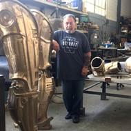Detroit's Robocop statue is coming along