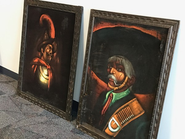 Black velvet paintings to be displayed at the Latino Cultural Center. - COURTESY PHOTO