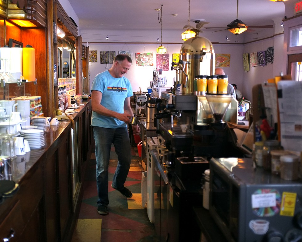 Ken Van Wagoner at the Good Beans Café. - SCOTT ATKINSON