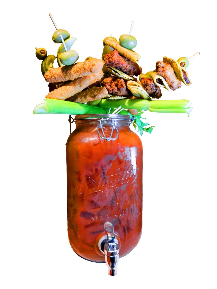 Monster Bloody Mary from Mallie's Sports Grill & Bar. - MARC NADER
