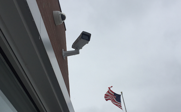 Project Green Light camera at a McDonald's on Eight Mile Road in Detroit. More than 300 partners have invested thousands of dollars in the real-time surveillance program by the Detroit Police Department. - VIOLET IKONOMOVA
