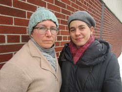 Melissa Cooper Sargent (left) and Lori Cataldo are two mothers raising children within about a mile of the incinerator. - JAY JURMA